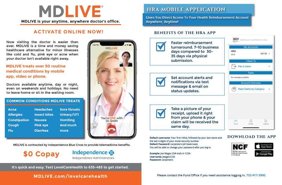 mdlive hra page