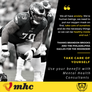 Click here to read the article about Brandon Brooks and his anxiety.